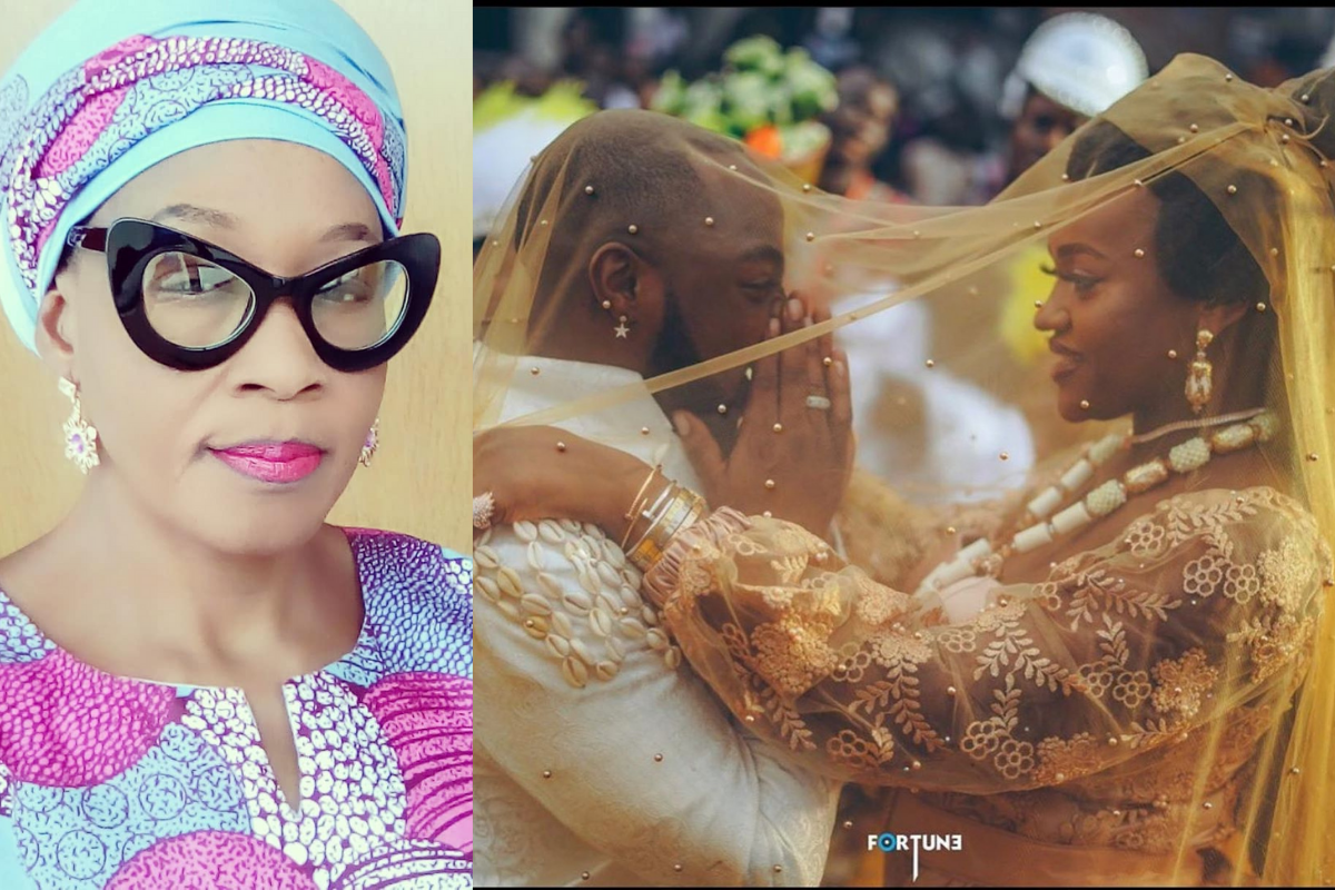 """""""If You Dare, Marry Chioma"""" – Kemi Olunloyo Warns Davido Again As She Exposes Photo Of His 'Official Wife'"""
