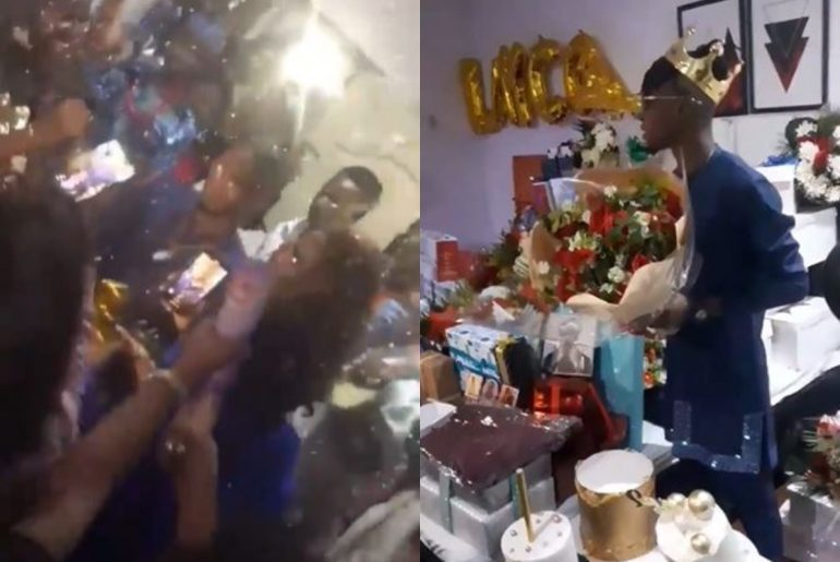 Icons Surprised Laycon With Expensive Gifts At His BBNaija Winner Celebration – Video