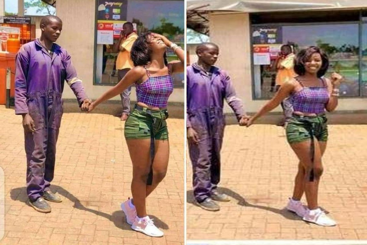 """""""Love Is Not About Appearance And Material Things, He Makes Me Happy"""" – Lady Who Went Viral With Her 'Mechanic' Boyfriend Speaks"""
