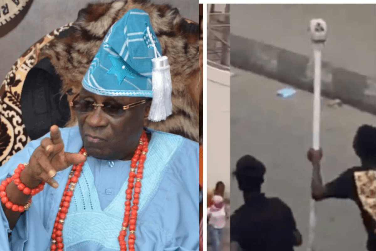 'Return The Staff Or Face A Spell Cast On You' Lagos Ruling House Issues 24-hour Ultimatum To anyone With The Staff of Office of Oba of Lagos (VIDEO)