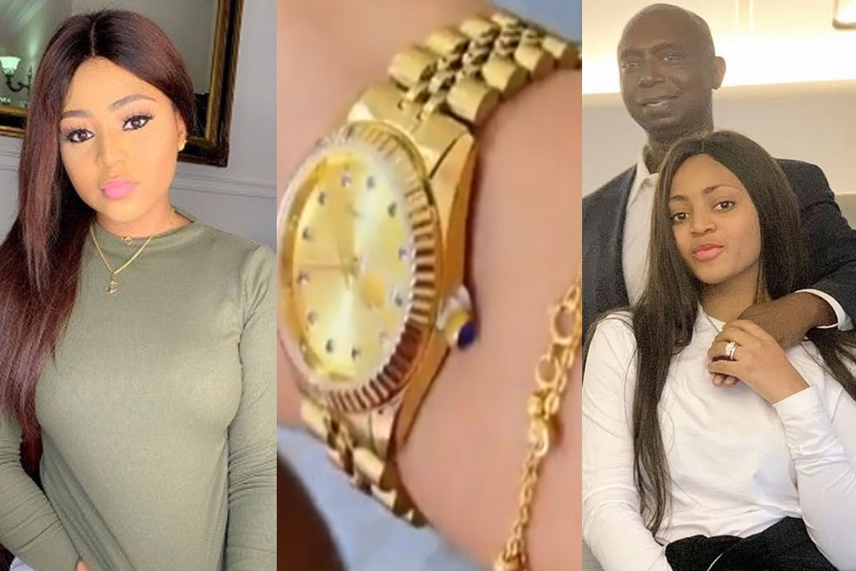 """""""You Don't Love Your Husband, You're Benefiting From Him!"""" – Nigerians Blast Regina Daniels For Telling Ned She Loves Him Over N24m Rolex Watch Gift"""