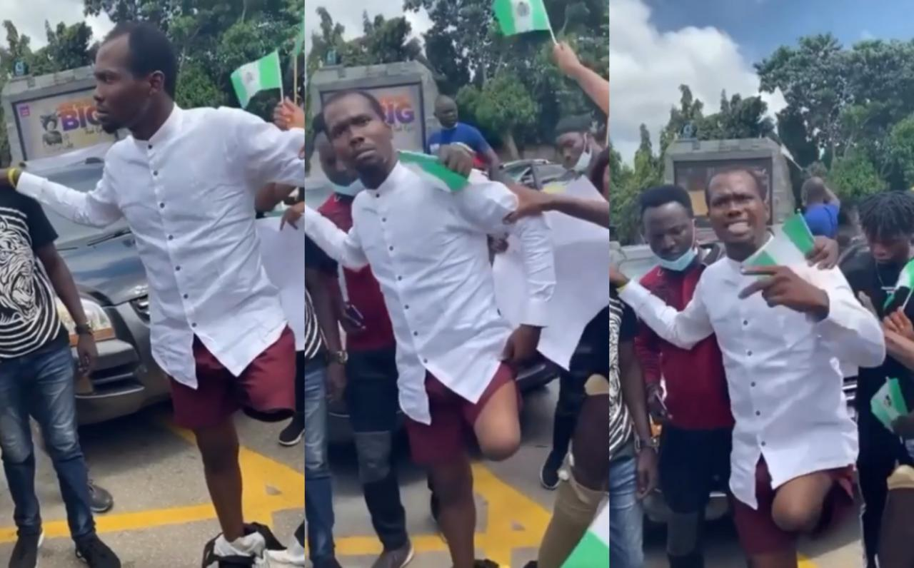 #ENDSARS: Nigerian Man Reveals How He Was Shot By Police Two Months After His Wedding (Video)