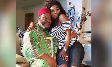"""""""Are You Sure Is Father And Daughter Or Lovers?"""" Reactions As Destiny Etiko And Pete Edochie Cause A Stir In A New Photo"""