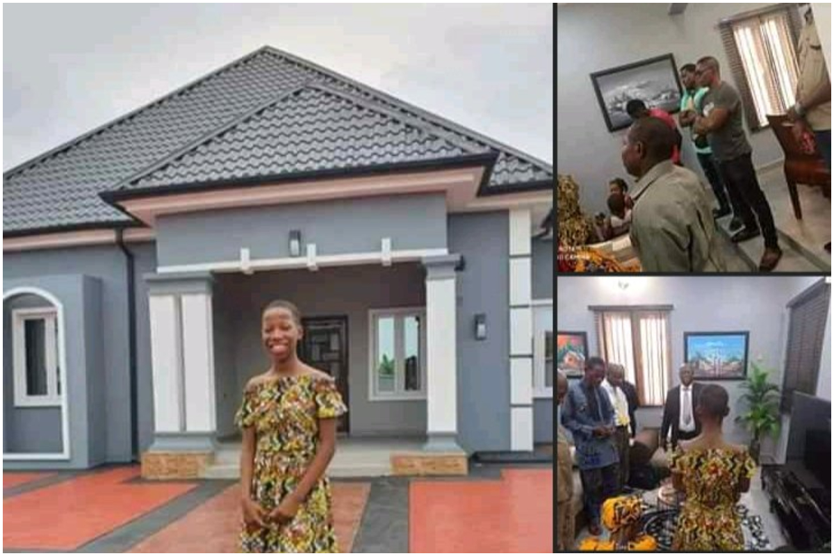 Young Comedian Emmanuella Surprises Her Mother With Her Newly Built House – Photos