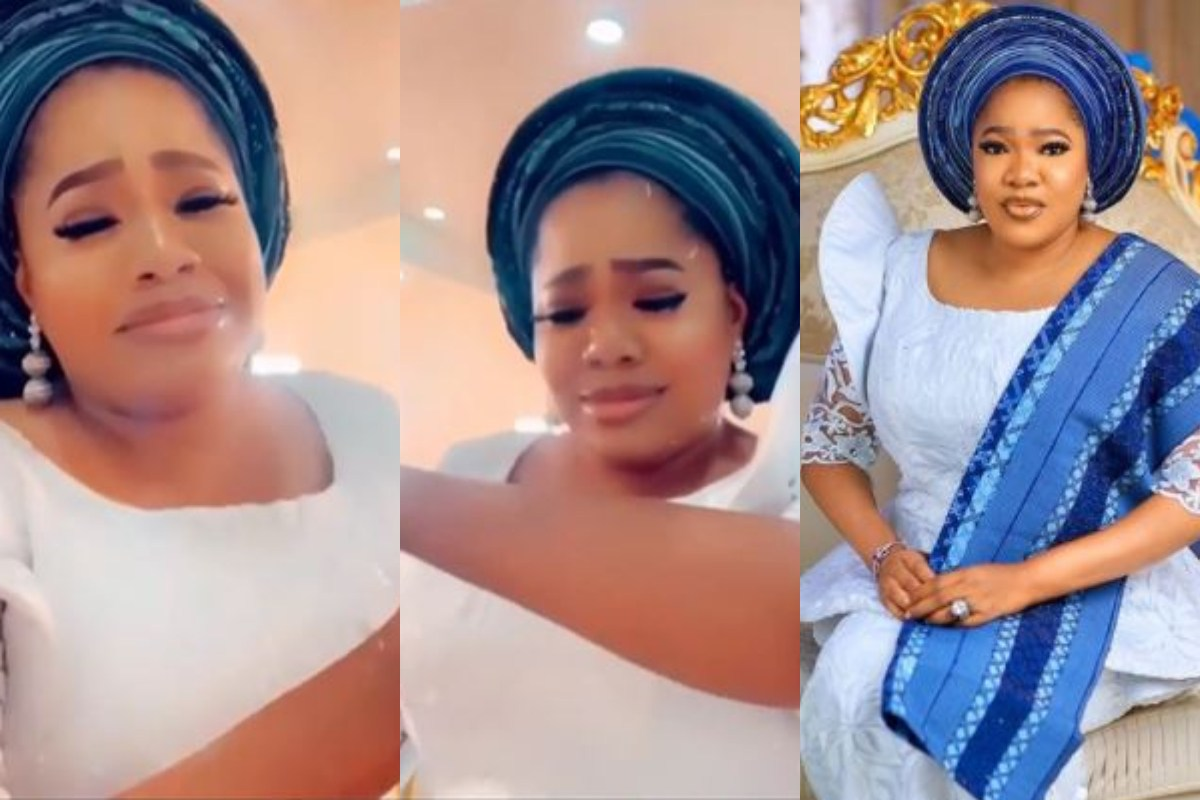 Toyin Abraham Cries After Her Gold Watch Was Stolen At Iyabo Ojo's Mothers's Funeral (Video)
