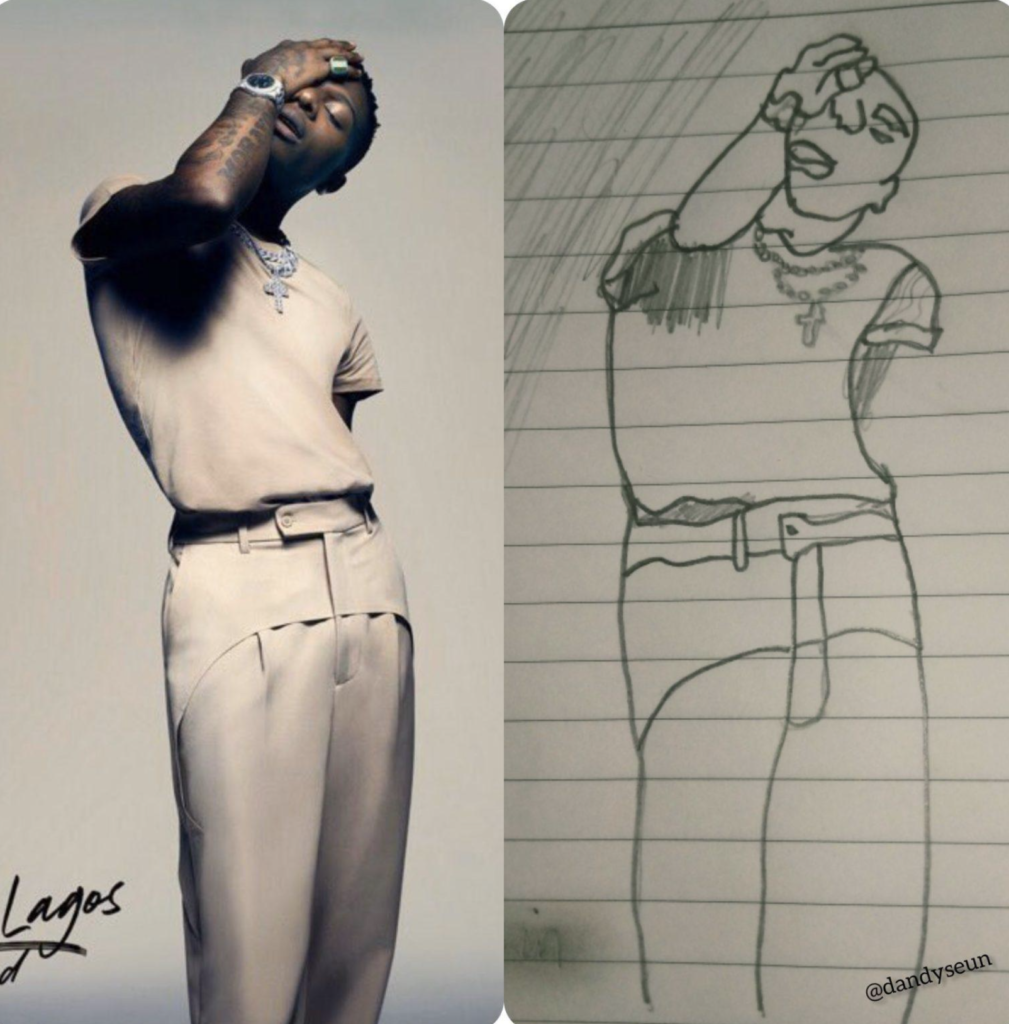 SEE The Bizarre Pencil Sketch Of Wizkid That Got People Furious On Social Media