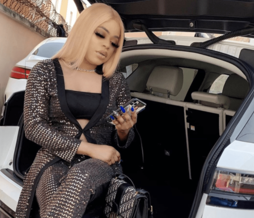 Bobrisky Flaunts The Interior Of His New Purchased Vehicle – PHOTO