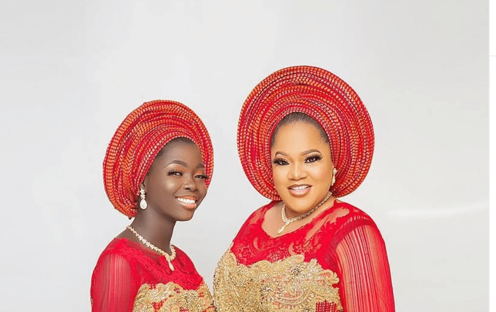 SEE This Lovely Photo Of Toyin Abraham & Her Stepdaughter, Temitope
