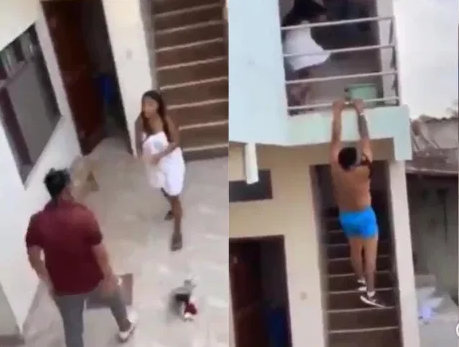 "Man Jumps Building After Being Caught ""Ch0pp*ng"" Another Man's Girlfriend (Video)"