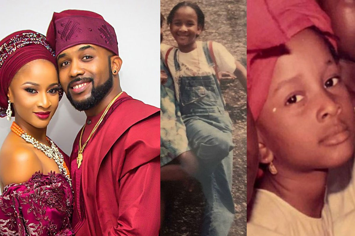 """""""She Would Have Been My Spec Even When I Was 10"""" – Banky W Says As He Shares Photos Of His Wife, Adesua, As A Little Girl"""