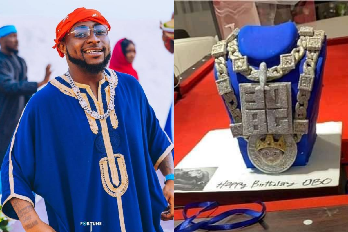 """""""Which God You Dey Serve"""" – Fans React After Sighting Davido's Birthday Cake (Photos & Video)"""