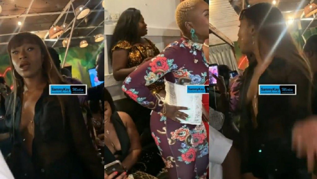 Efia Odo Spotted At Sista Afia's Birthday Party – Is Everything Cool After Fighting Dirty On Twitter? (Video)