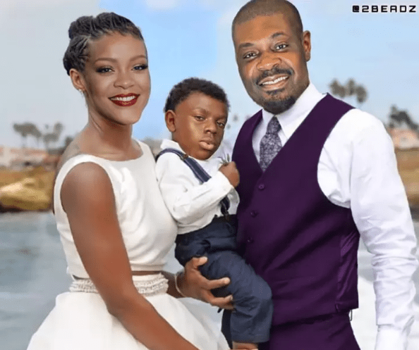 """'Congrats! Beautiful Couple and Cute Baby' – Don Jazzy Finally Reveals The Face Of His """"Son And Wife"""" In Recent Post"""