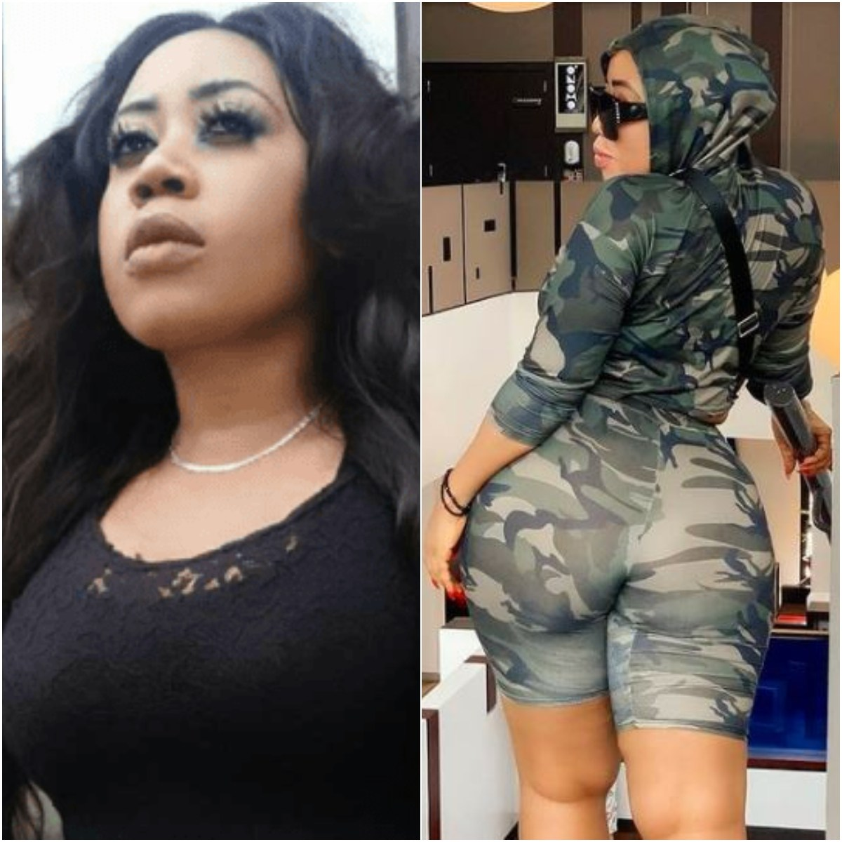 Actress Moyo Lawal Turns Heads As She Twerks Wildly In Military Camo (Video)