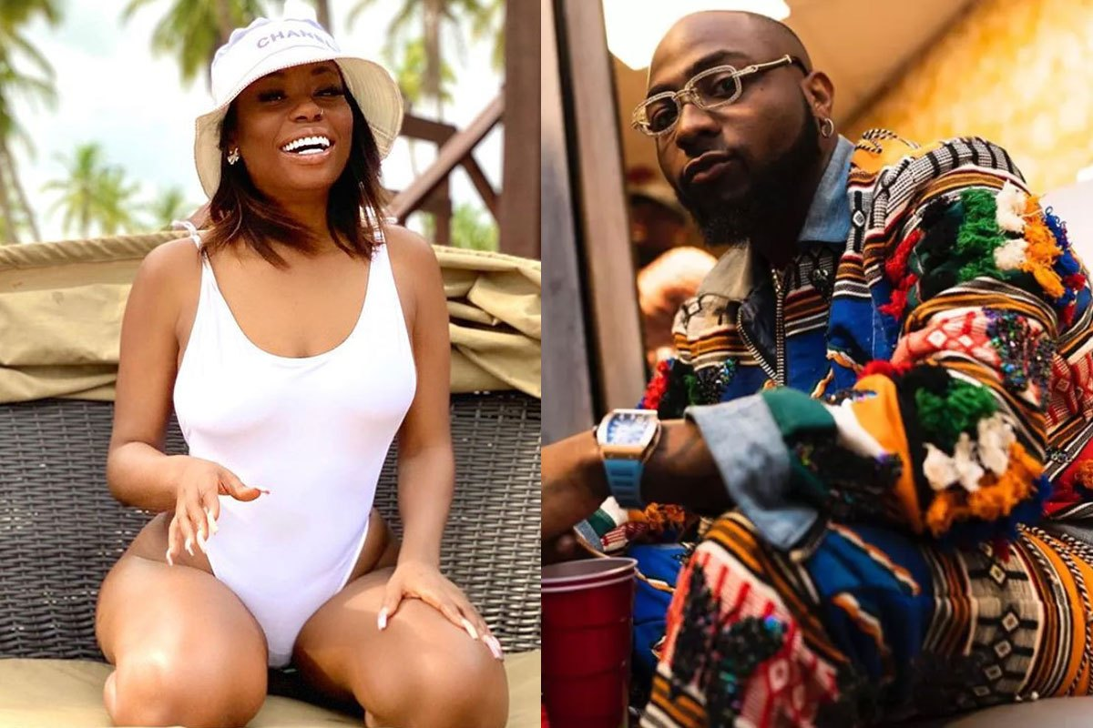 Davido's First Baby Mama, Sophia Momodu Puts Her Banging Body On Display In Swimsuit (PHOTOS)