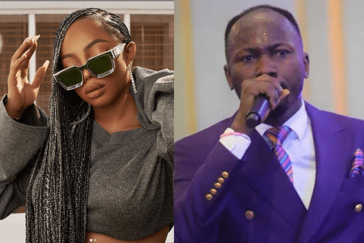Toke Makinwa Mocks Apostle Suleman Over Testimony Of His Spiritual Son Who 'Supernaturally Saw Himself In France After Praying In Germany'