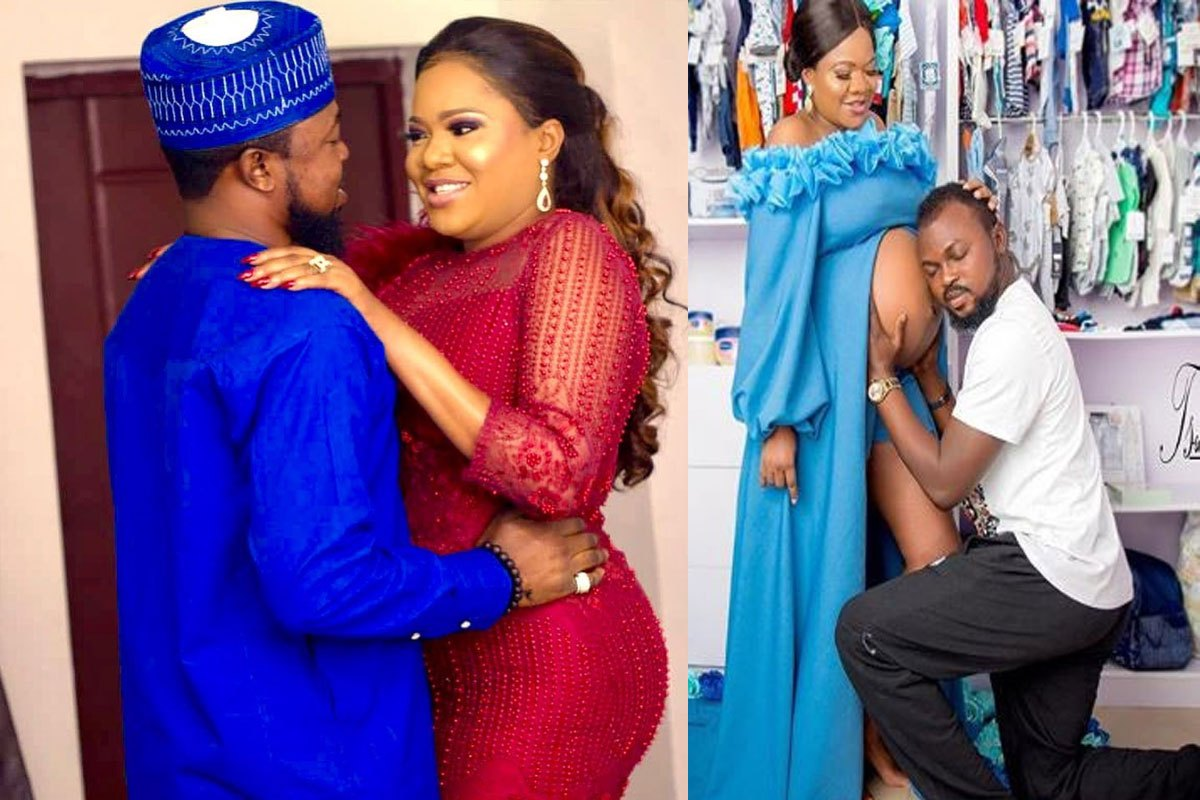 'When We Were Doing Hide And Seek' – Toyin Abraham Says As She Shares Epic Throwback Photo With Husband