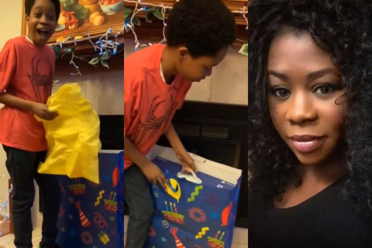 9ice Ex-Wife, Toni Payne Gifts Her 12-Year-Old Son PS5 On His Birthday And His Reaction Is Priceless (Video)