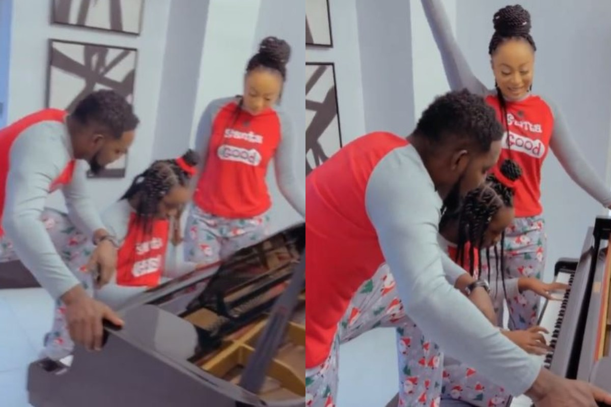 Watch Comedian AY's Daughter, Mitchelle Give Her Parents A Live Christmas Performance With A Piano (Video)