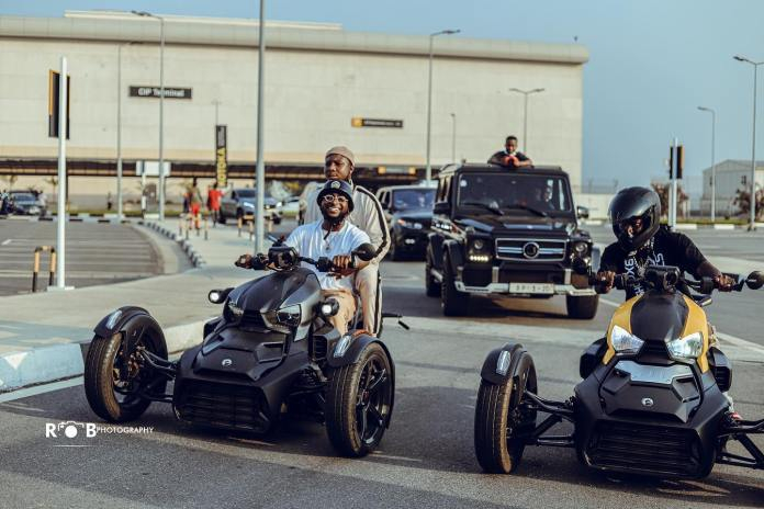 Stonebwoy Welcomes Davido In Ghana With Expensive Bikes Ahead Of Activate Party- Photos/Video