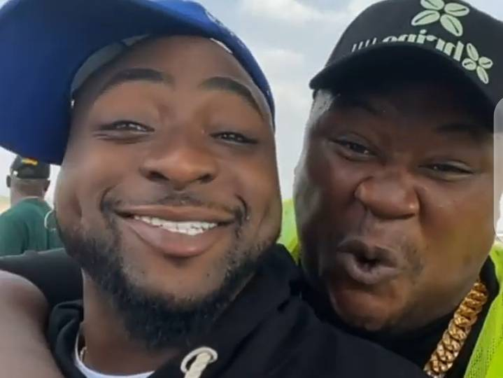 'Wahala Be Like Bicycle'- Zubby Michael, Destiny Etiko, Others React As Cubana Lifted Davido Like A Baby