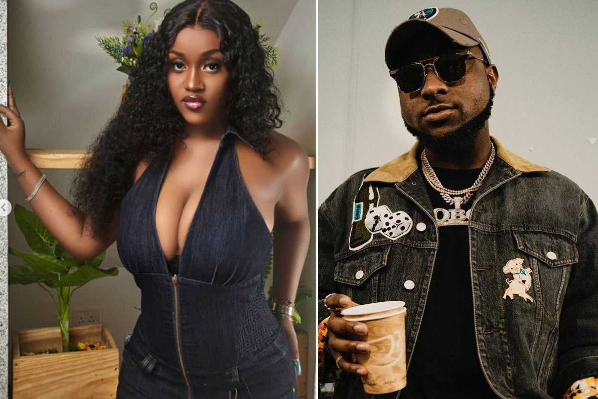 """Davido Come And Carry Your Wife, She's Tensioning Us Here oo"" – Fans React As Chioma Shows Her Cleavage (PHOTOS)"