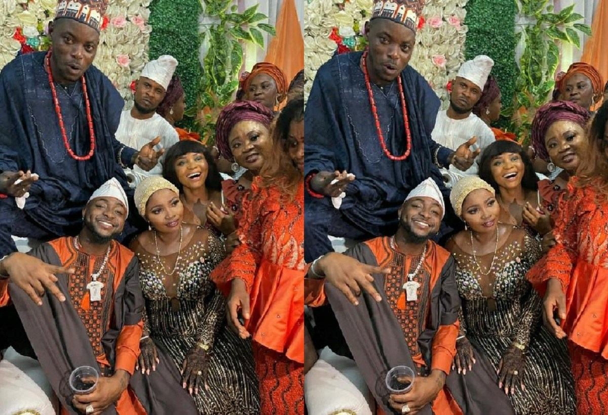 Photo Of Davido At His Driver's Wedding Causes Stirs Online