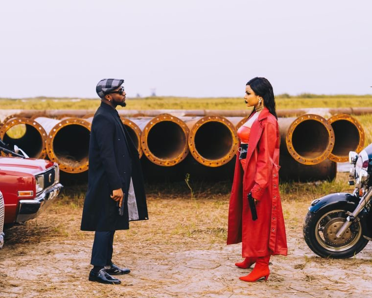 PHOTOS: See A Behind The Scenes Look Of DAVIDO'S JOWO VIDEO SHOOT Featuring Nengi (BBNaija)