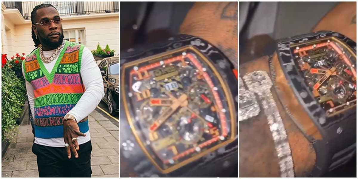 Burna Boy Flaunts A Richard Mille Wrist Watch Worth N100 Million – Video