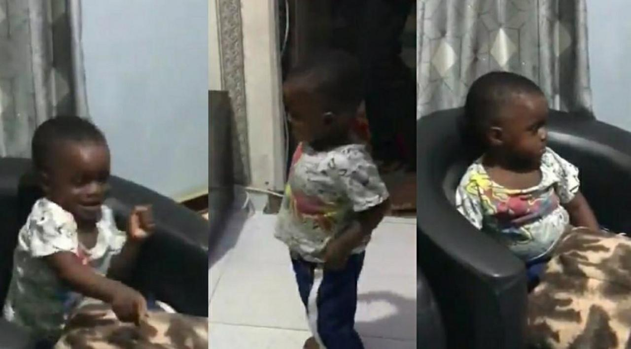 Video: Little Boy Dozing Off All Of A Sudden Jumps To FEM Song By Davido