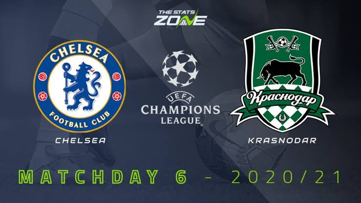 STREAM LIVE: Chelsea Vs Krasnodar [Watch Now] Champions League 2020/2021 #CHEKRA #UCL #CHELSEA #FOOTBALL #CFC