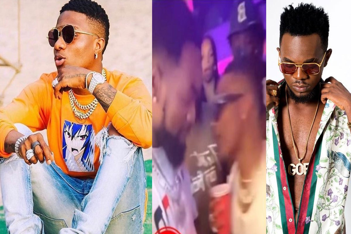 Moment Wizkid And Patoranking Met Each Other In Ghana (VIDEO)