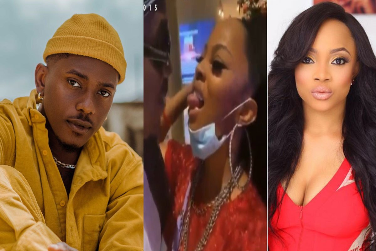 """""""This Is The Baby Boy Of Life"""" – Toke Makinwa Hails Timini Egbuson As They Try To Ki** Each Other In Public (VIDEO)"""