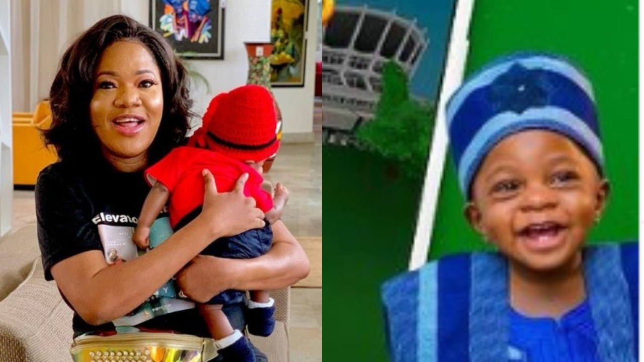 Actress, Toyin Abraham Finally Unveils Her Son Ire's Identity (VIDEO)