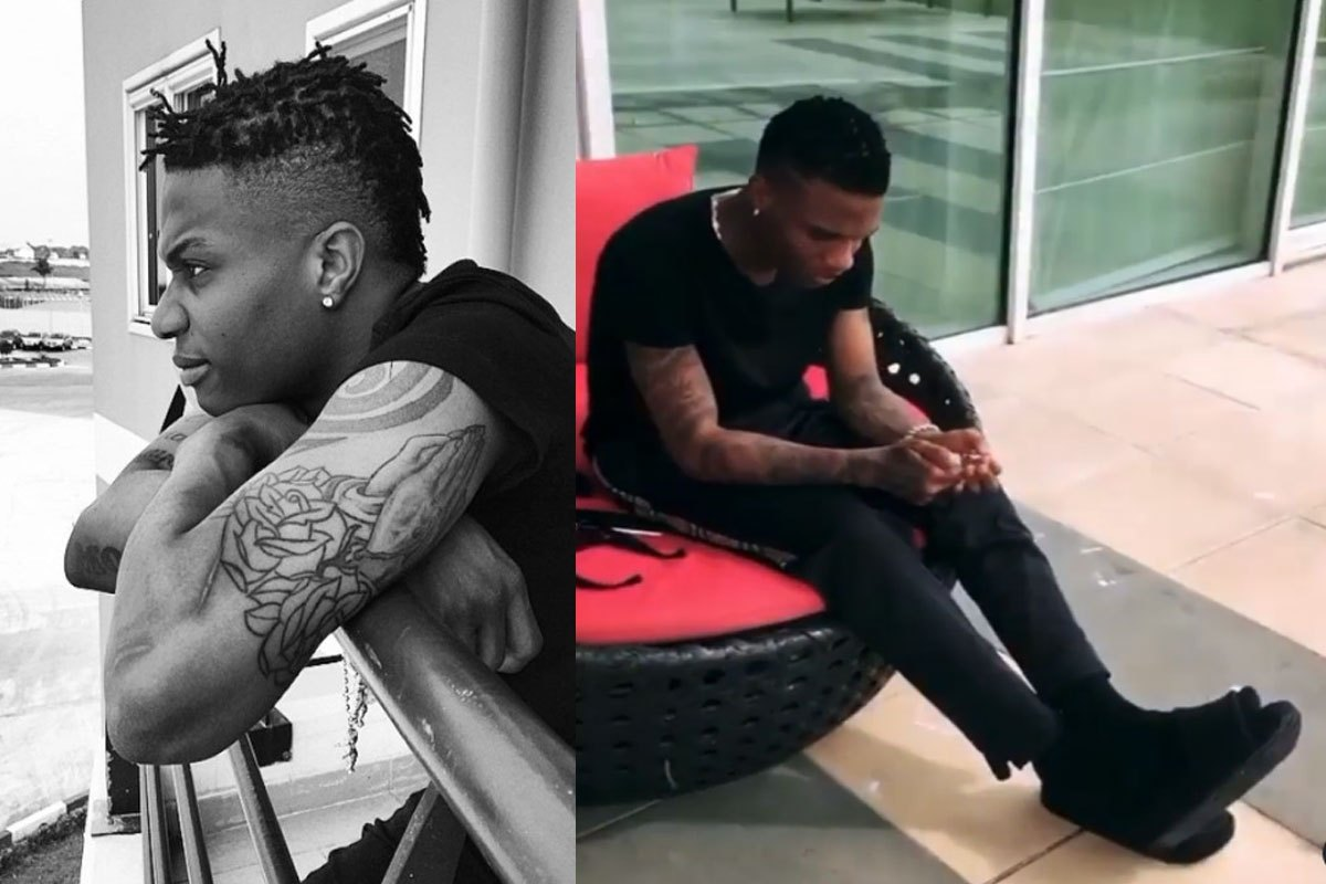 """""""No Time"""" – Wizkid Hurriedly Lights Up His """"Kush"""" As He Hangs Out With Rudeboy (VIDEO)"""
