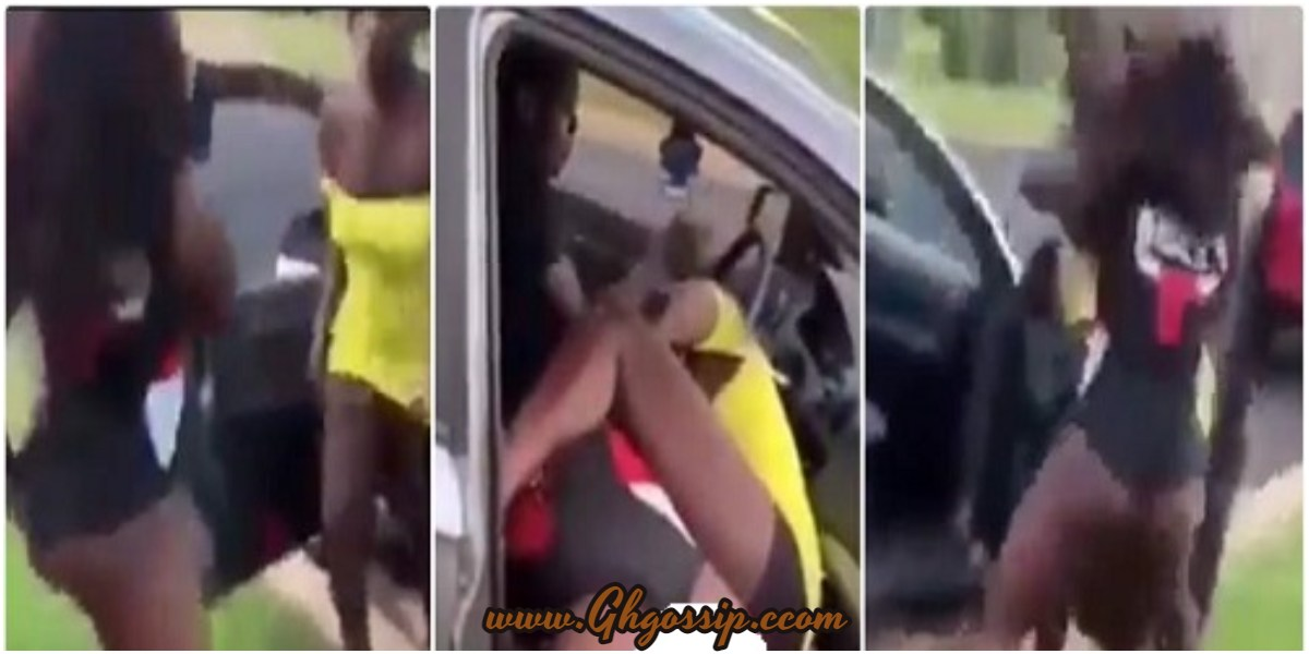 Video: Two Slay Queens Exchange Heavy Blows As The Man They Were Fighting Over Refuses To Separate Them min