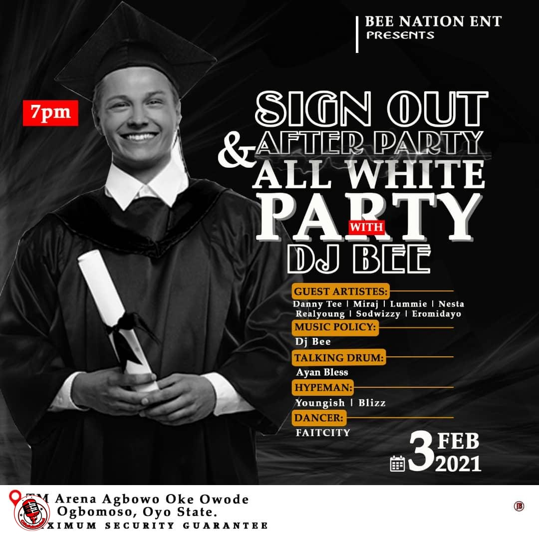 Sign Out & After Party All White Party with Dj Bee Of BNE