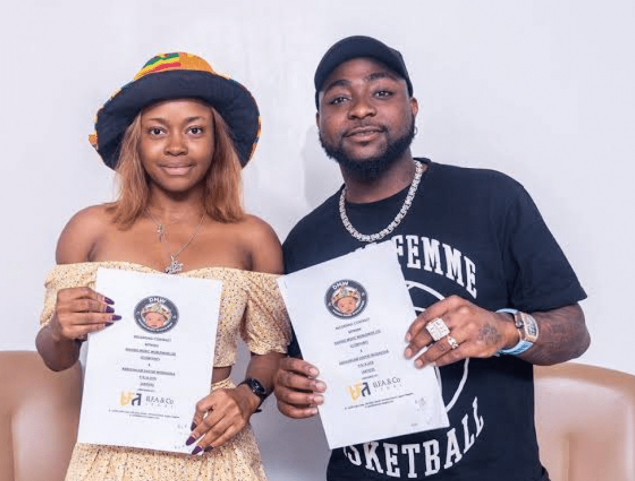'EP Under Construction' – Davido Tells Fans To Watch Out For His Newly Signed Artist, Liya
