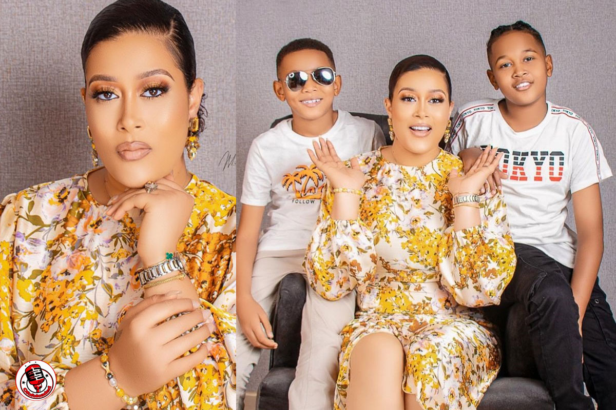 """""""I Pray Your Labor On Your Children will Never Go In Vain"""" – Actress, Adunni Ade Writes As She Shares Lovely Photos With Her Kids"""