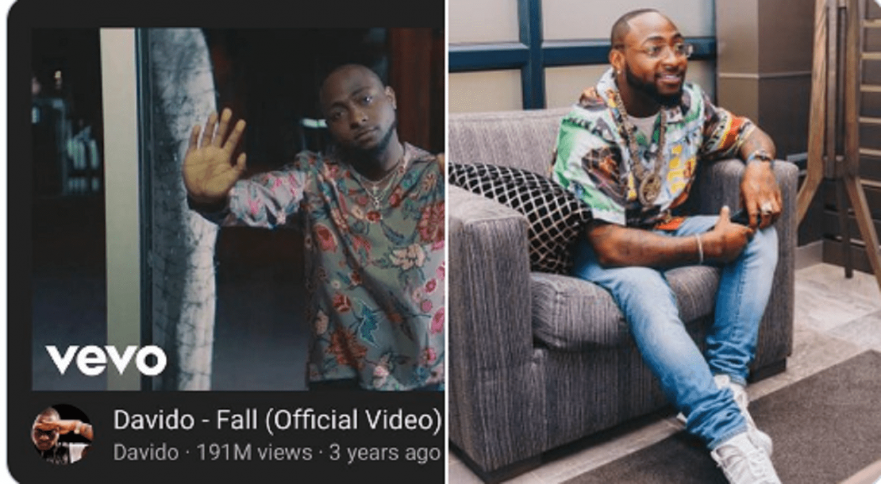 Davido's 'Fall' Video Is Currently The Most Viewed African Music Video On YouTube.