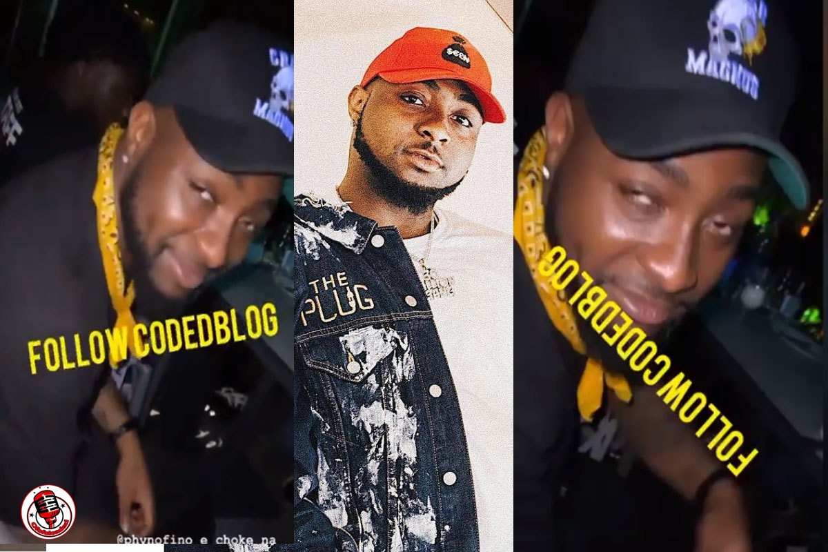 Davido Spotted Looking High During Hangout With Friends At A Party (VIDEO)