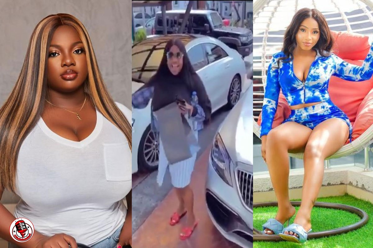 Moment Dorathy Lamented Over Parking Space During Her Arrival At Mercy Eke's House (VIDEO)