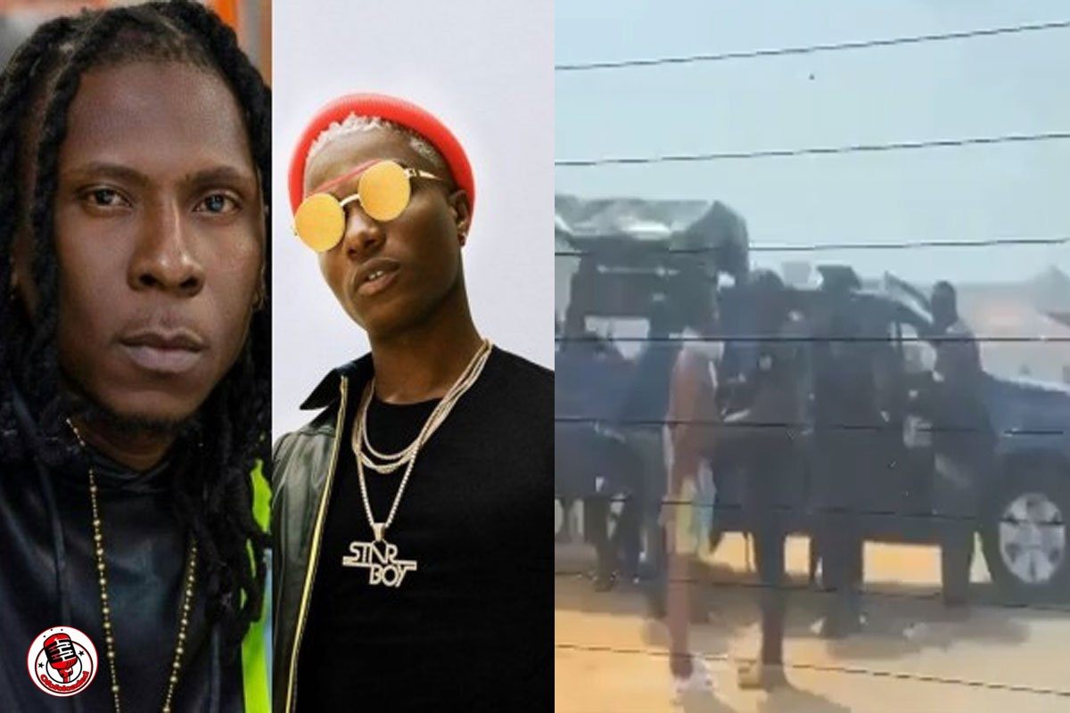 Moment Wizkid And R2Bees Were Being Questioned By Police In Accra (VIDEO)