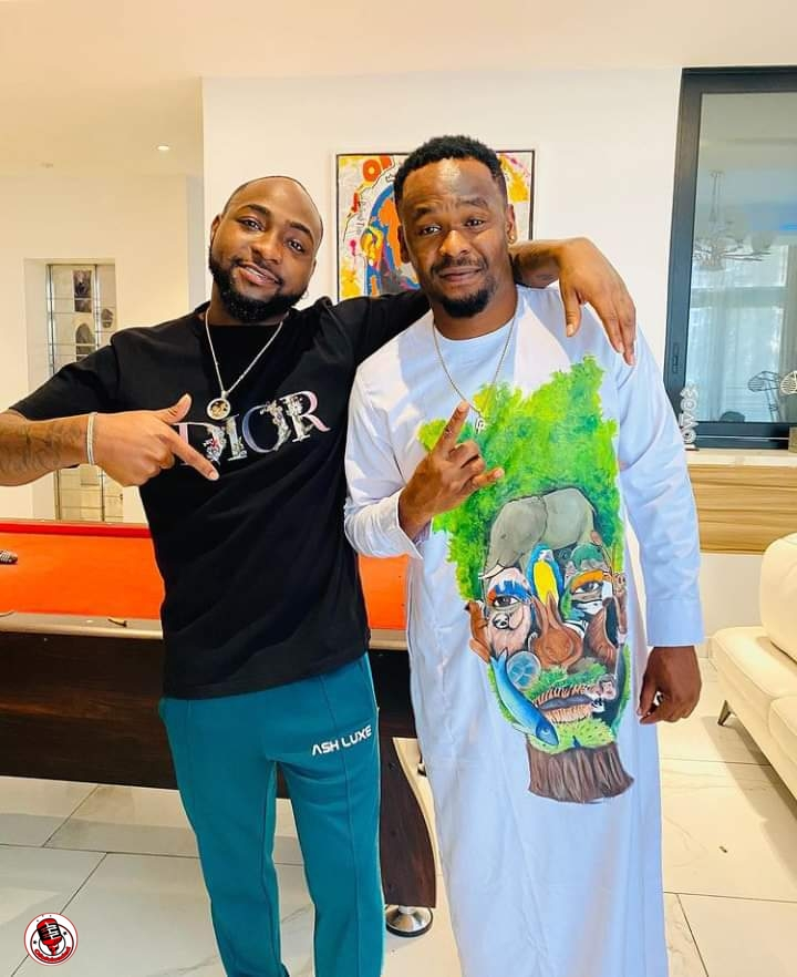 Actor Zubby Michael excited as he shares videos, photo of himself hanging out with Davido