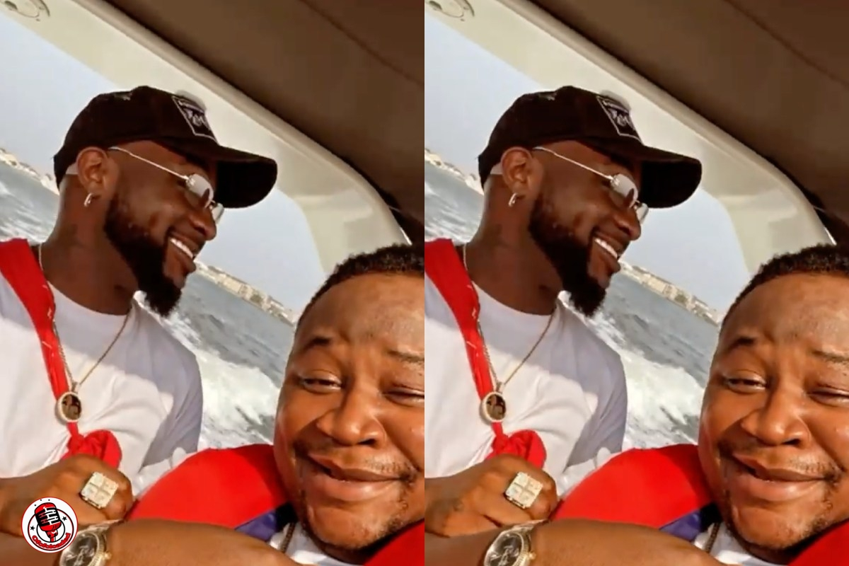 Davido Cruises With Cubana Chief Priest At The Beach (Video)