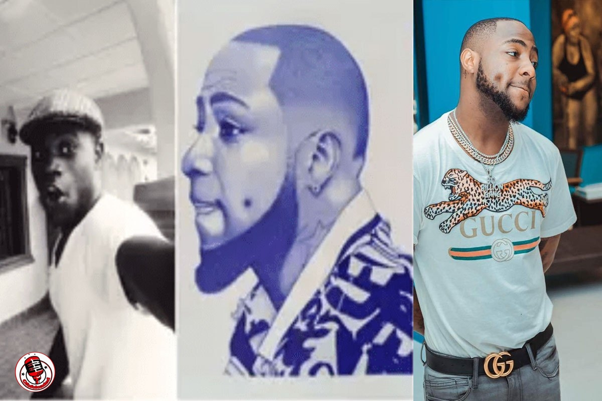 Young Man Draws Davido With Pen, Ask People to Shares Until Musician Sees it (PHOTOS)