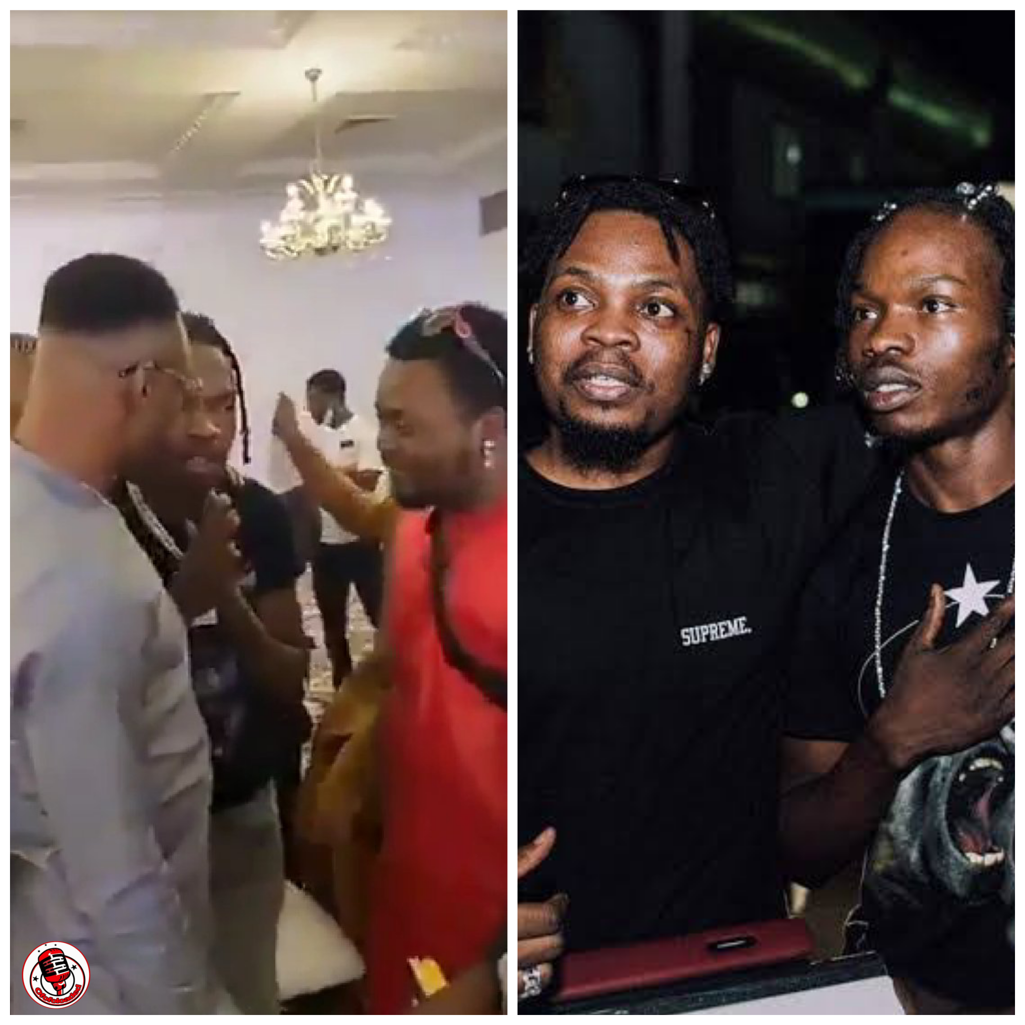 What's Happening?? The Moment Naira Marley Prostrated & Begged Olamide For Forgiveness At Oba Elegushi Birthday Party (Watch Video) min