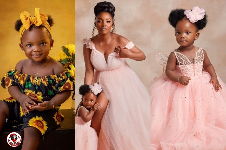 Simi finally shows the face of her daughter, Adejare as she clocks one year (photos)