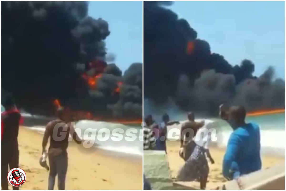 VIDEO: Strange Seen As Wildfire Spotted Burning On Top Of The Sea, Social Media Users React min