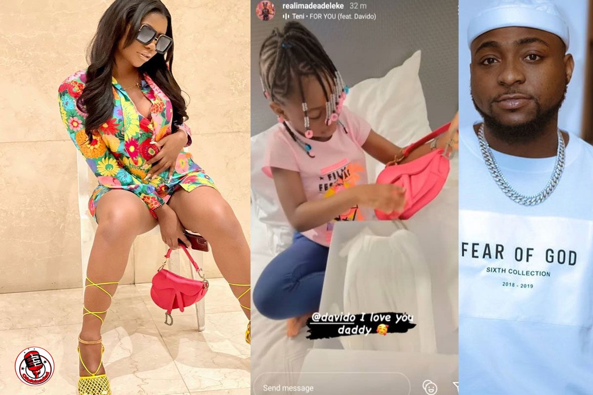 """""""He Stylishly Bought It For Her, Not Imade"""" – Reactions As Sophia Momodu Rocks 'Daughter's N1.5m Dior Bag From Davido'"""